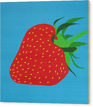 Strawberry Pop Wood Print by Oliver Johnston