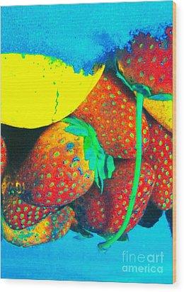 Strawberry Sun  Wood Print by Kristine Nora