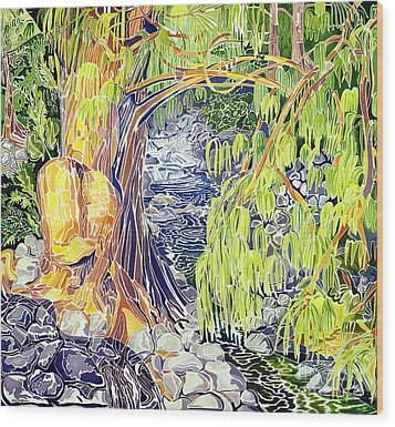 Stream At Laupahoehoe Wood Print by Fay Biegun - Printscapes