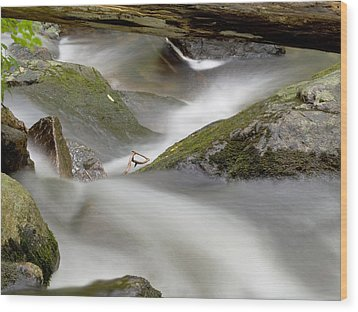 Stream In Motion Wood Print