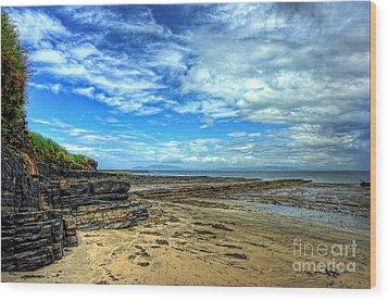 Streedagh Beach Wood Print by Kim Shatwell-Irishphotographer