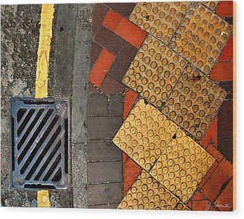 Street Abstract Wood Print by Joe Bonita