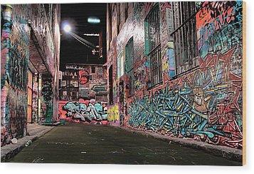 Street Art Wood Print