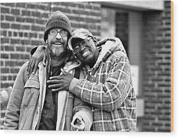 Street Buddies Wood Print by Douglas Pike