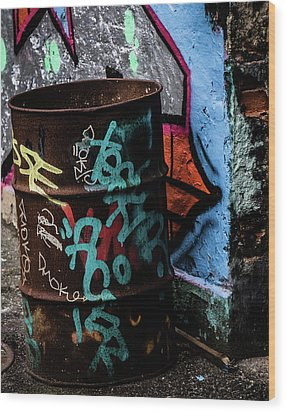 Wood Print featuring the photograph Street Gallery by Odd Jeppesen