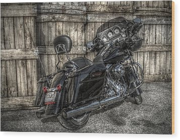 Street Glide Crated 2 Wood Print by Bennie McLendon
