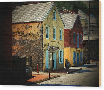 Street In Harper's Ferry Wood Print
