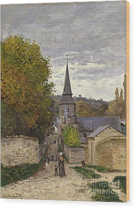 Street In Sainte Adresse Wood Print by Claude Monet