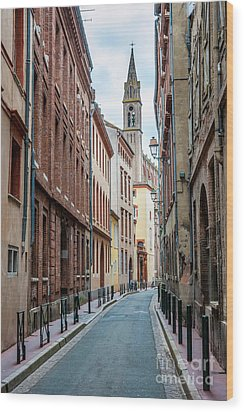 Wood Print featuring the photograph Street In Toulouse by Elena Elisseeva
