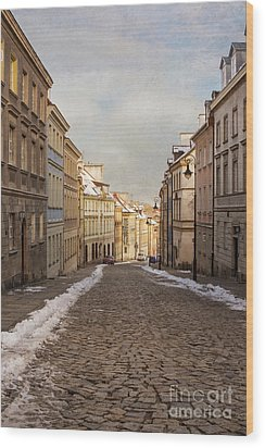 Wood Print featuring the photograph Street In Warsaw, Poland by Juli Scalzi