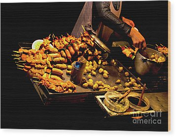 Wood Print featuring the photograph Street Meat by Al Bourassa