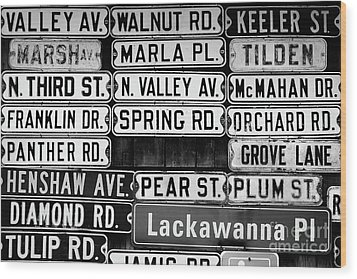 Wood Print featuring the photograph Street Names by Colleen Kammerer
