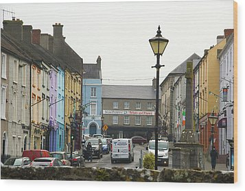 Wood Print featuring the photograph Streets Of Cahir by Marie Leslie