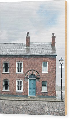 Wood Print featuring the photograph Street Of Working Class Terraced Houses by Lee Avison