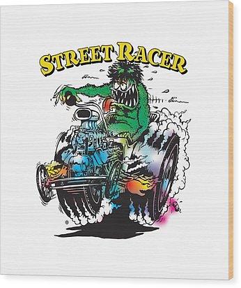 Street Racer Wood Print by Gary Grayson