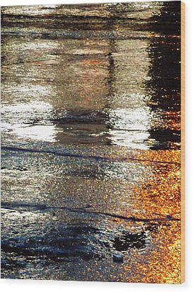 Street Reflections 2 Wood Print