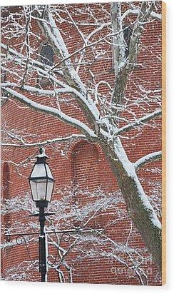 Streetlight Wood Print by Hideaki Sakurai