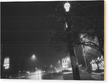 Streetlights Wood Print by Jeanette O'Toole