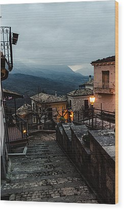 Streets Of Italy - Caramanico 3 Wood Print
