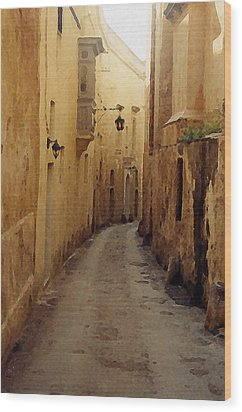 Wood Print featuring the photograph Streets Of Malta by Debbie Karnes