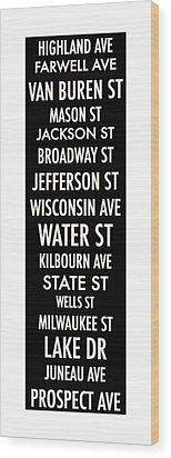 Streets Of Milwaukee Wood Print