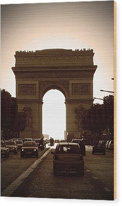 Streets Of Paris Wood Print by Kamil Swiatek