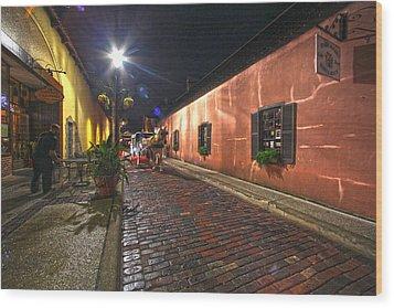 Streets Of St Augustine Wood Print