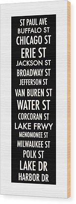 Streets Of Third Ward Milwaukee Wood Print
