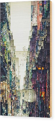 Streetscape 1 Wood Print by David Hansen