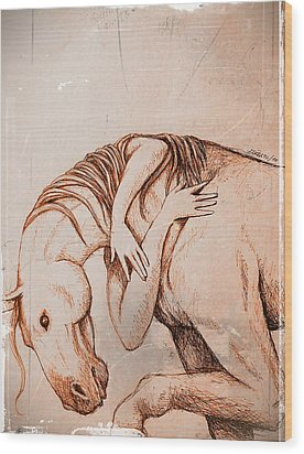 Strength And Affection Wood Print by Paulo Zerbato