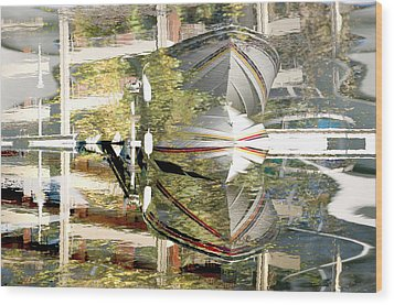 Stresa Wood Print by Mary Mansey