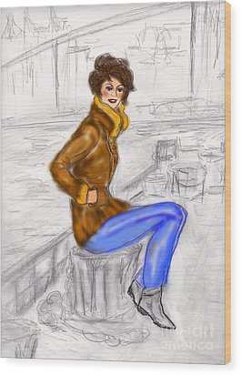 Strike A Pose Wood Print by Desline Vitto