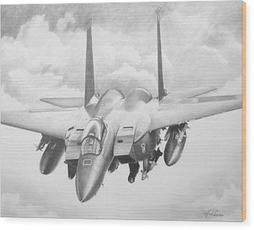Strike Eagle Wood Print by Stephen Roberson