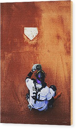 Strike Three Wood Print by Darryl Gallegos