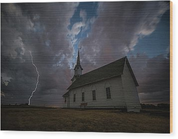 Wood Print featuring the photograph Striking  by Aaron J Groen