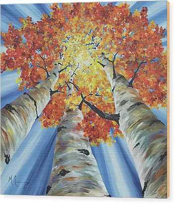 Striking Fall Wood Print