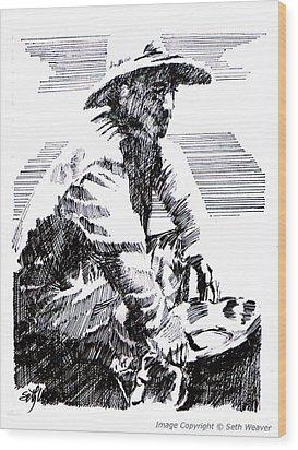 Striking It Rich Wood Print by Seth Weaver