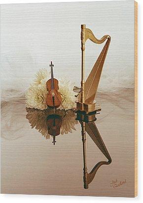 String Duet Wood Print