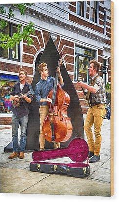 String Trio Wood Print