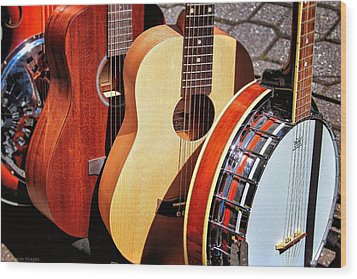 Strings Attached Wood Print by Wallaroo Images