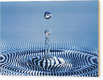 Striped Water Wood Print