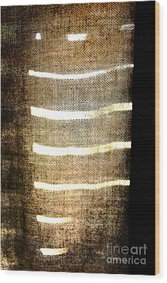 Stripes And Texture Wood Print