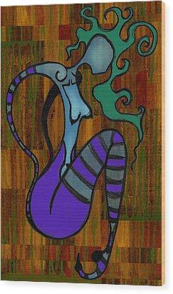 Stripes Wood Print by Kelly Jade King