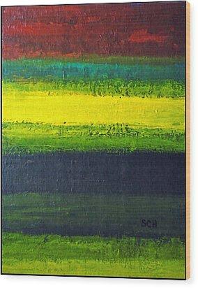 Stripes Number 3 Wood Print by Scott Haley