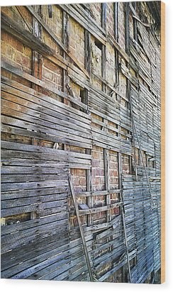 Strips Wood Print