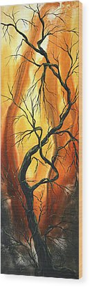 Striving To Be The Best By Madart Wood Print by Megan Duncanson