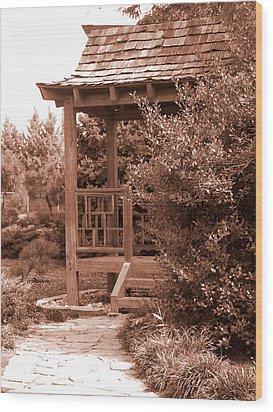 Stroll Garden 2 Wood Print by Audrey Venute