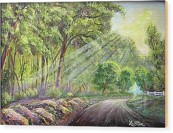 Wood Print featuring the painting Strolling Down Old Rapidan  by Lee Nixon