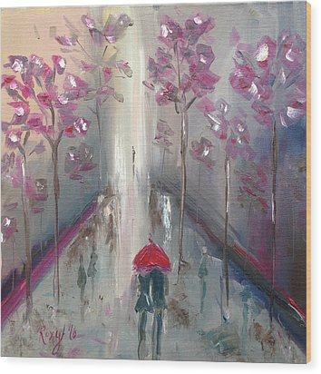 Strolling Wood Print by Roxy Rich