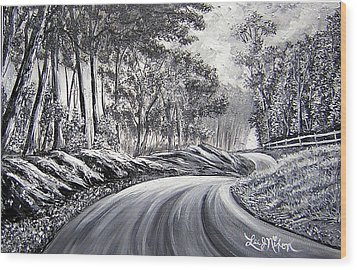 Wood Print featuring the painting Strollling Down Old Rapidan Road by Lee Nixon